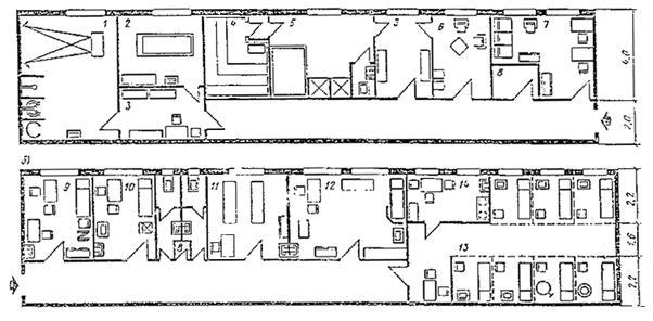 а - схема блока водолечебных